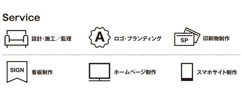 ルーペデザインのサービスアイコン